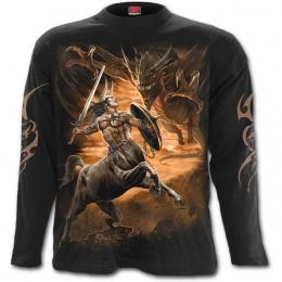 T-shirt homme manches longues à Centaure chasseur de dragon