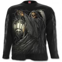 T-shirt homme manches longues avec La Mort tenant une lanterne