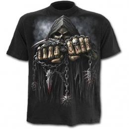 T-shirt homme noir avec la Mort à chaine de combat
