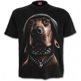 T-shirt unisexe à chien au style punk-rock
