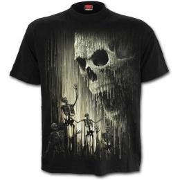 Tee-shirt homme à cranes de cire et squelette