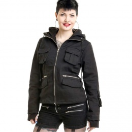 Veste femme goth-rock noir BELLA JACKET - Poizen Industries