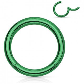 Anneau vert à segment charnière en acier