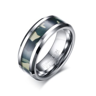 Bague homme tungstene Military