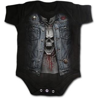 Body bébé imitation tenue Trash Métal