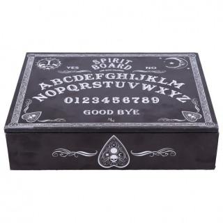 Boîte à bijoux noire sérigraphiée ouija
