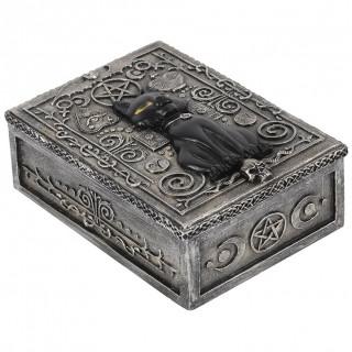 Boite gothique à chat noir (14x10x5.5cm)