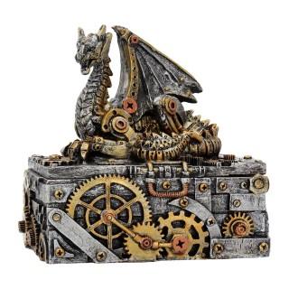 "Boite steampunk à dragon ""Les secrets de la machine"""
