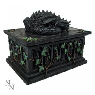 Boite à Tarot cercueil avec dragon dormant dessus - Nemesis Now
