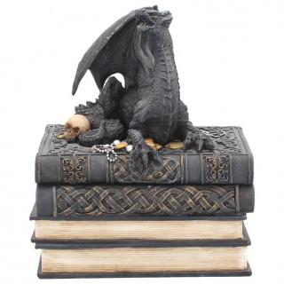 """Boites en forme de livres """" Les secrets des Dragons """" - 19cm"""