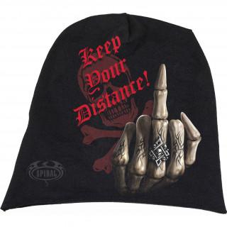 """Bonnet """"Garde tes distances"""" avec la Mort faisant un Fuck"""
