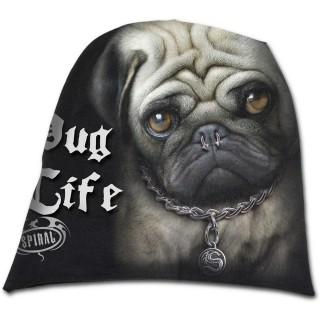 Bonnet gothique homme punk-rock à chien avec piercing au nez