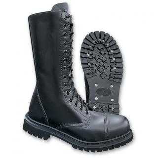 Boots Phantom 14 trous noire style militaire (mixte) - Brandit