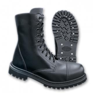 Boots Phantom 10 trous style militaire noire (mixte) - Brandit