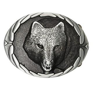 Boucle de ceinture avec tête de loup