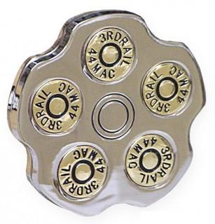 Boucle de ceinture barillet de pistolet revolver