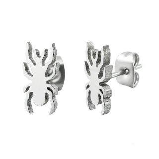 Boucles d'oreilles acier araignée