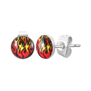 Boucles d'oreilles logo flammes