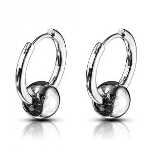 Boucles d'oreilles acier inspiration CBR (paire)