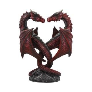 Bougeoir à couple de dragon en coeur - Anne Stokes