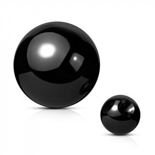 Boule de piercing noire en acier titanium PVD (remplacement)
