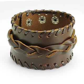 achat bracelet cuir ajustable avec tresse pas cher. Black Bedroom Furniture Sets. Home Design Ideas