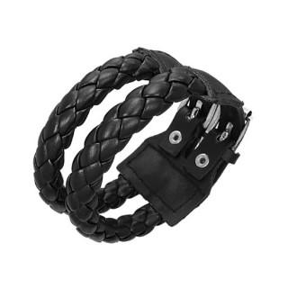 achat bracelet cuir double tresse avec ceintures pas cher. Black Bedroom Furniture Sets. Home Design Ideas