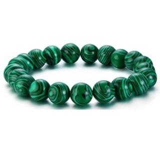 Bracelet homme en perles de Malachite