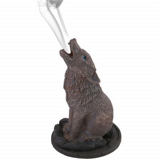 Brûleur à cônes d'encens Loup noir hûrlant - Anne Stokes
