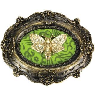 Cadre déco oval baroque à papillon macabre (22,3cm)