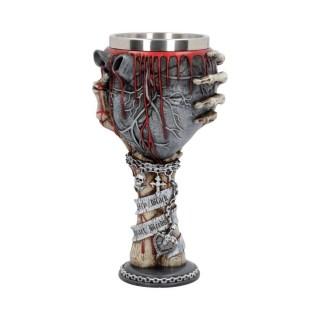 Calice / verre à pied en forme de coeur avec main squelette - Nemesis Now