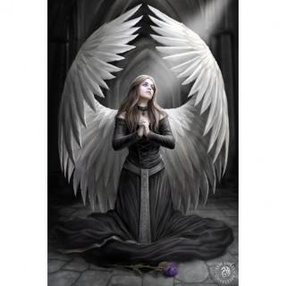 """Carte postale Effets 3D à ange """"Prière pour les morts"""" - Anne Stokes"""