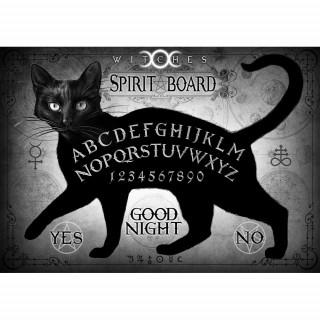 Carte postale Effets 3D à chat noir ouija - Alchemy