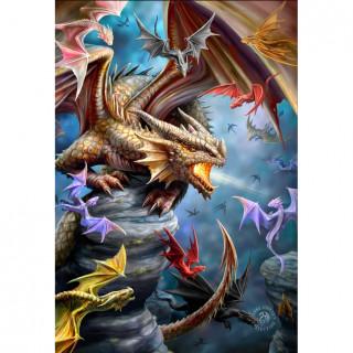 Carte postale Effets 3D à clan des dragons - Anne Stokes