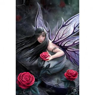 Carte postale Effets 3D à fée aux roses - Anne Stokes