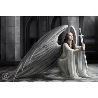 Carte postale Effets 3D à femme ange à l'épée - Anne Stokes