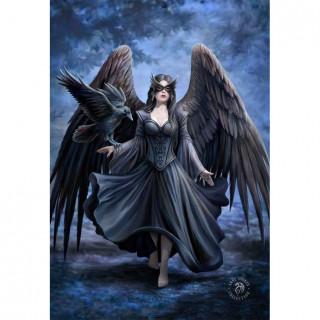 Carte postale Effets 3D à femme corbeau - Anne Stokes