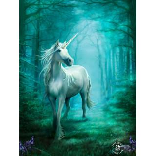 Carte postale Effets 3D à licorne blanche en foret - Anne Stokes