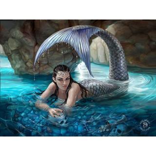 Carte postale Effets 3D à sirène dans les profondeurs cachées - Anne Stokes