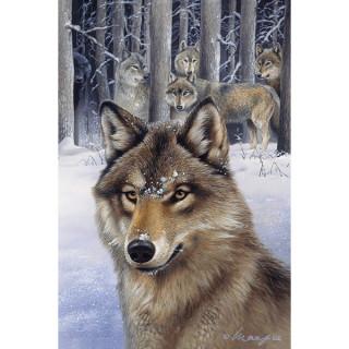 Carte postale Effets 3D loup - Anne Stokes
