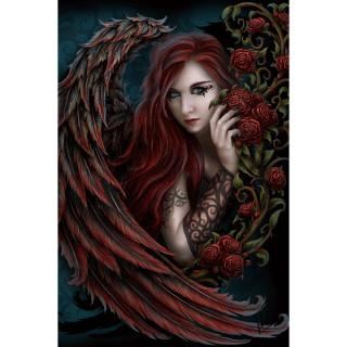 Carte postale Effets 3D femme à aile de dragons - Linda Jones