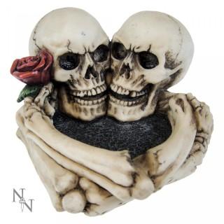 """Cendrier à couple de squelettes """"Last Tango"""" - 12.5cm"""
