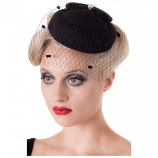 """Chapeau rétro noir modèle """"JUDY HAT"""" - Banned"""