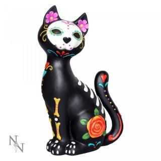 Chat noir façon jour des morts - Sugar Kitty (26cm)