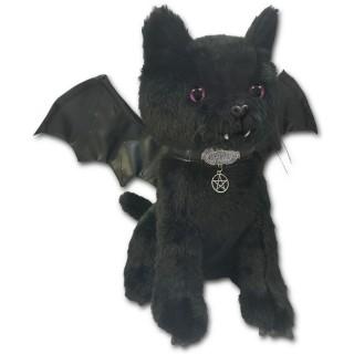 """Chat noir vampire en peluche """"Bat cat"""""""