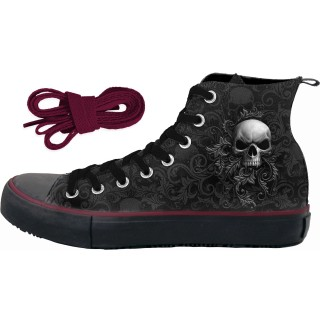 Chaussures gothiques Sneakers homme SKULL SCROLL