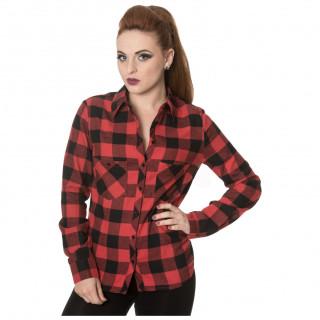 Chemise femme à carreaux rouges et noirs - Banned