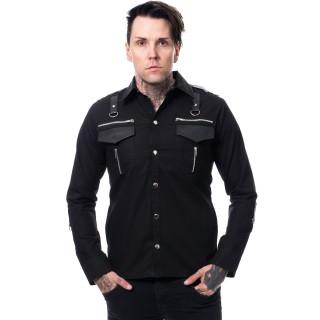 Chemise homme gothique noire COOPER - Vixxsin