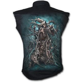 achat chemise homme gothique sans manche foret de la mort. Black Bedroom Furniture Sets. Home Design Ideas