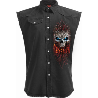 """Chemise homme sans manches """"GAMERS NEVER DIE THEY RESPAWN"""""""
